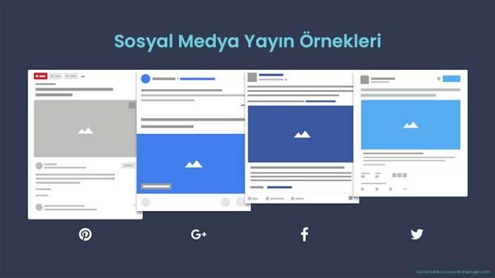 Sosyal Medya Yayın Örnekleri