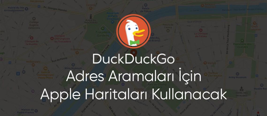 DuckDuckGo Adres Aramaları İçin Apple Haritaları Kullanacak