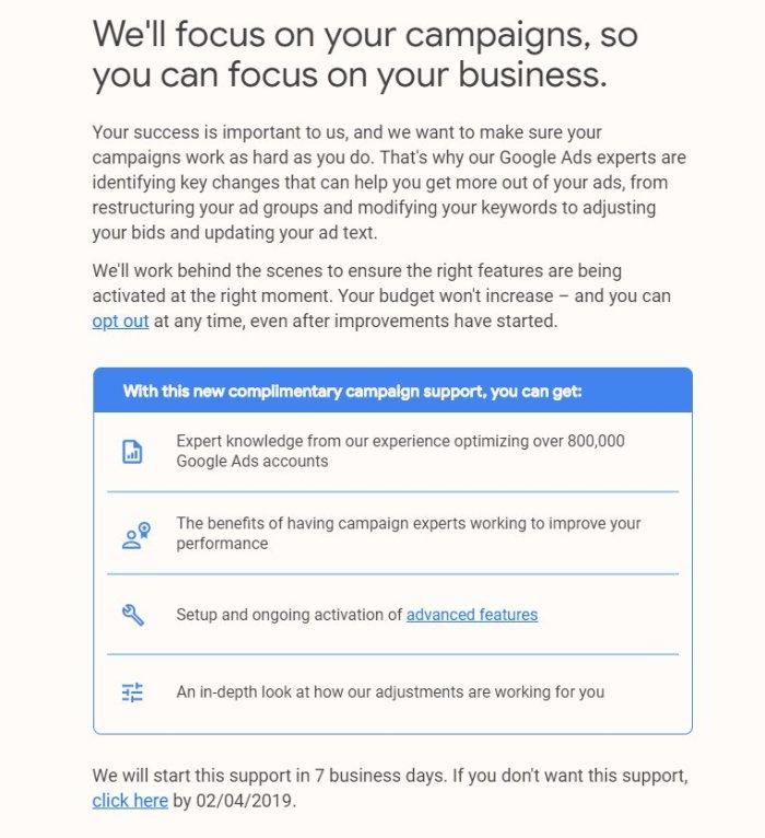 Google Ads Hesaplarınızı Google Yönetecek