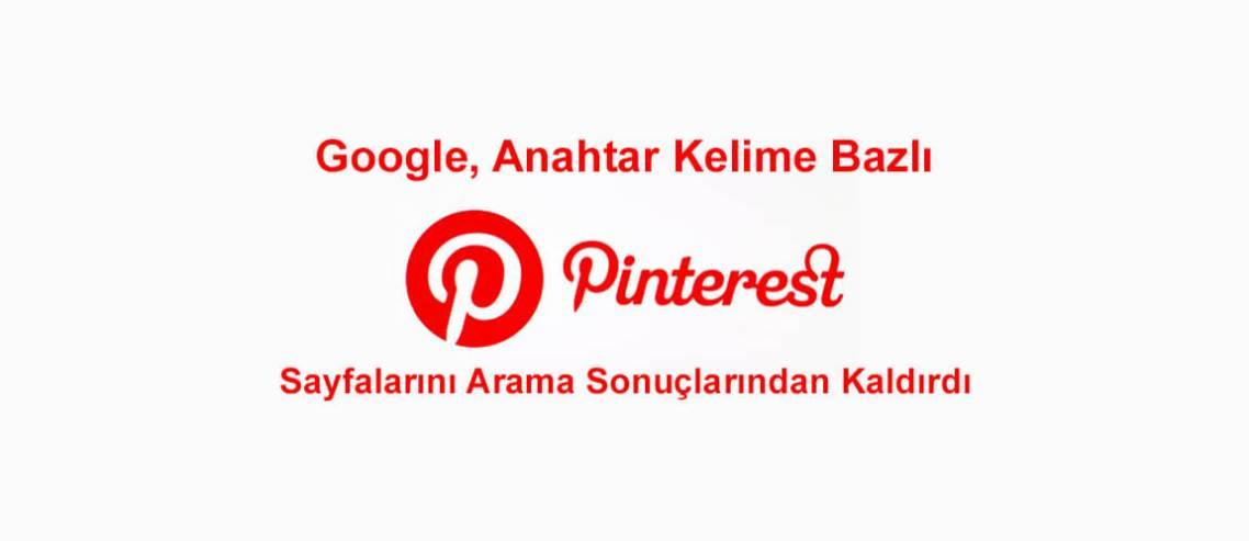 Google'ın Pinterest yaptırımı
