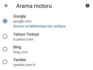 Google Chrome'da Varsayılan Arama Motoru Nasıl Değiştirilir?