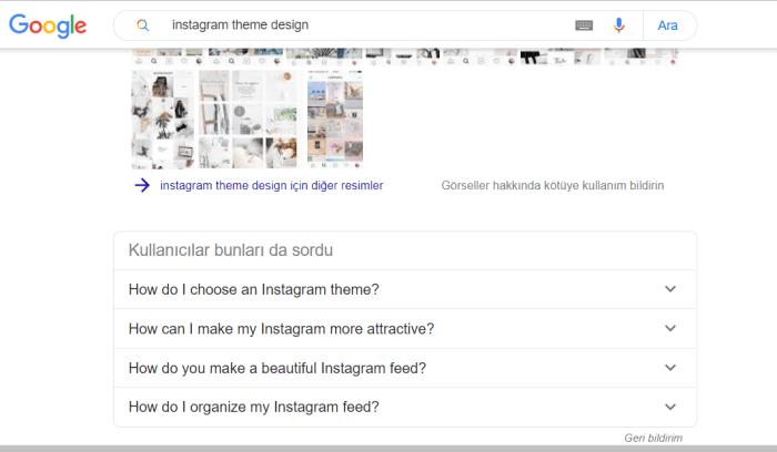 """""""Instagram Them Design"""" araması önerileri"""