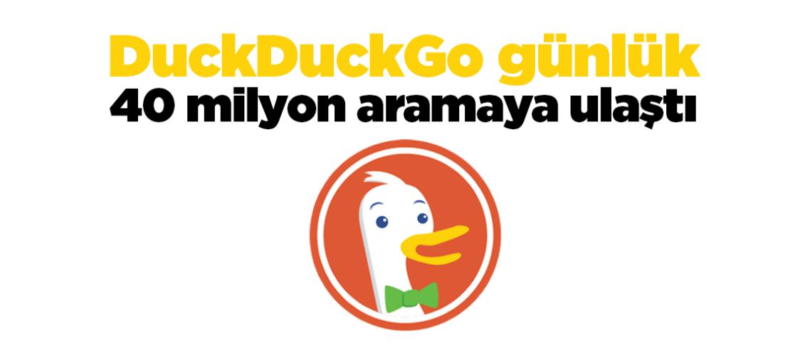 DuckDuckGo günlük arama hacmi