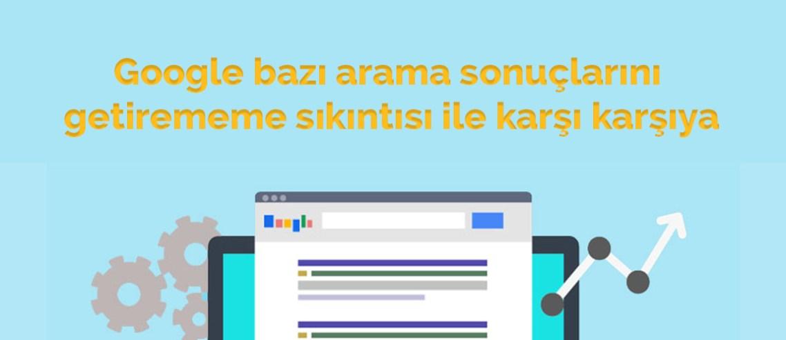 Google Arama sonuçları hatası detayları