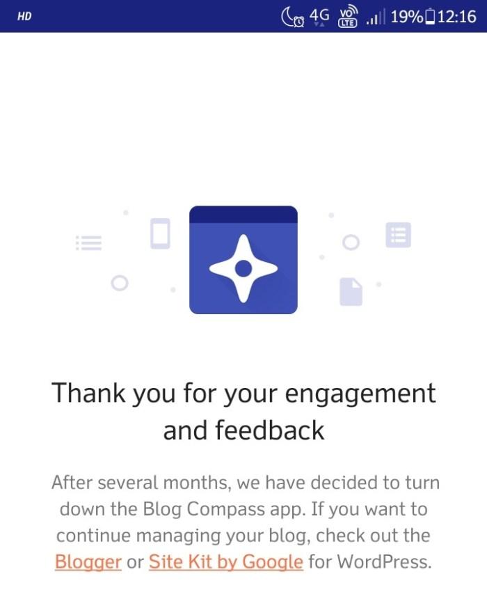 Blog Compass kapanıyor