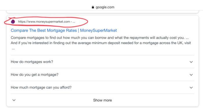 Google URL'li arama sonuçları