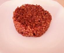 Riso rosso integrale mantecato con burro e parmigiano
