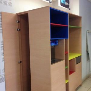 meubles multifonction pour le restaurant de l'école