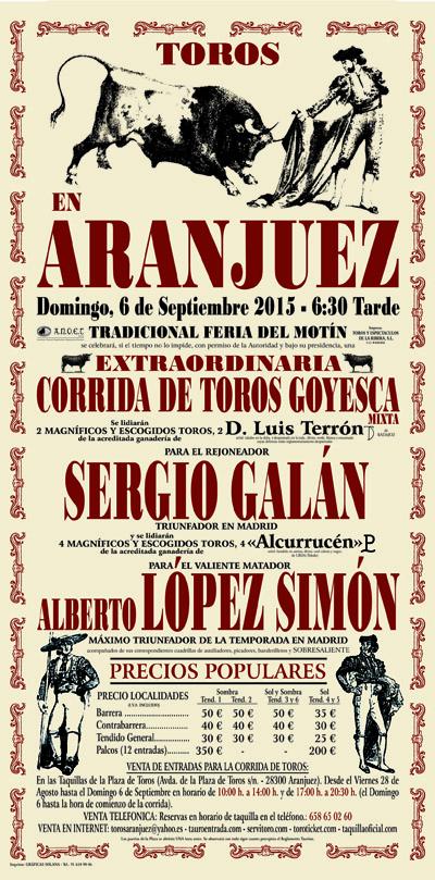 Aranjuez recupera su corrida goyesca en la Feria del Motín