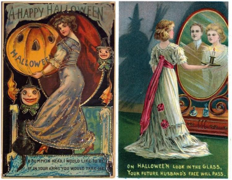 Victorian Halloween Cards - Halloween en la epoca victoriana