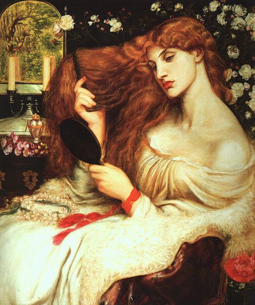 Arte prerrafaelita: Lady Lilith de Dante Gabriel Rossetti