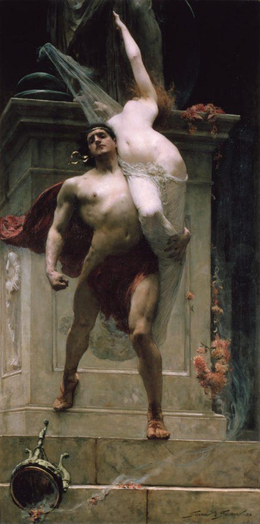 Ayax y Cassandra por Solomon Joseph Solomon
