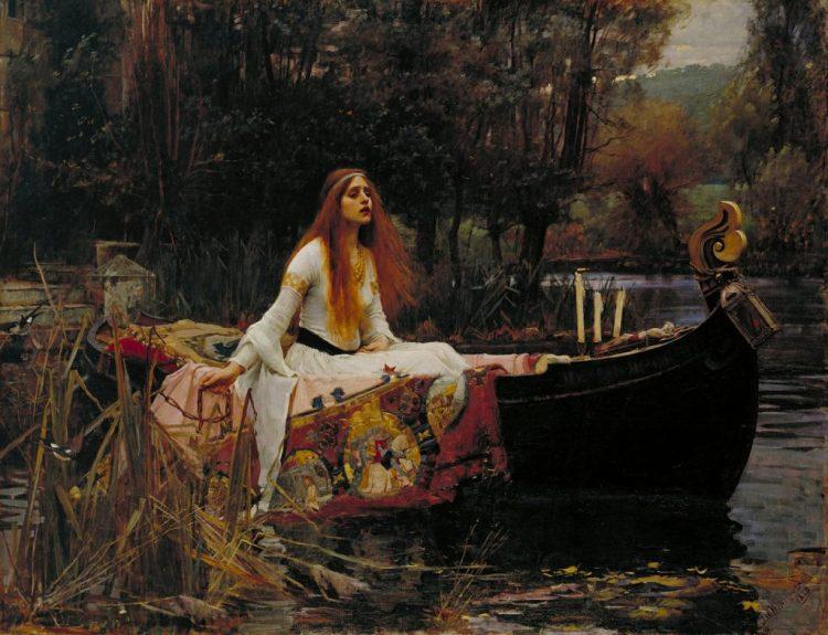 Arte prerrafaelita: La dama de Shalott de John William Waterhouse
