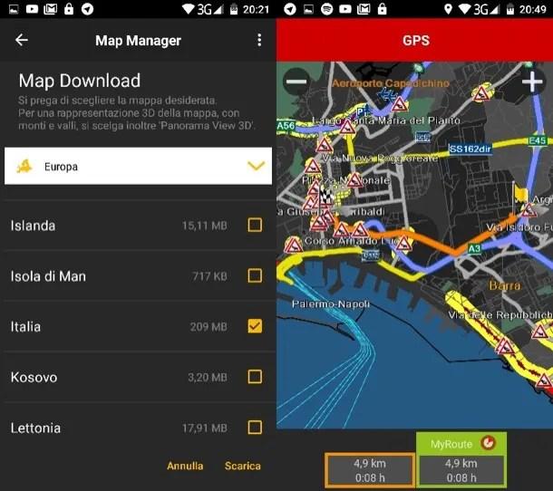 Navigatore offline Android