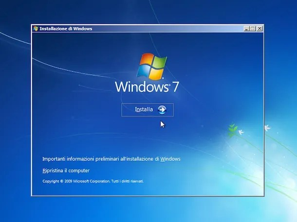 Come formattare Windows 7