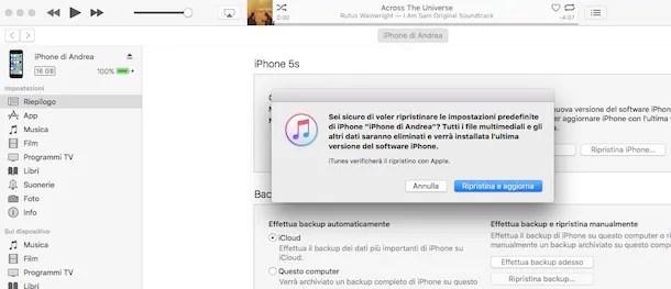 Come ripristinare iPhone