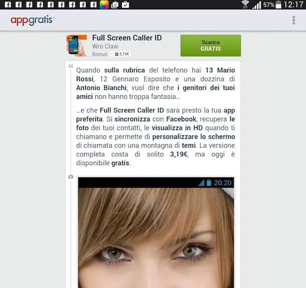 Screenshot di AppGratis