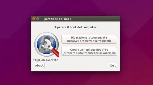 Risultati immagini per boot-repair italiano