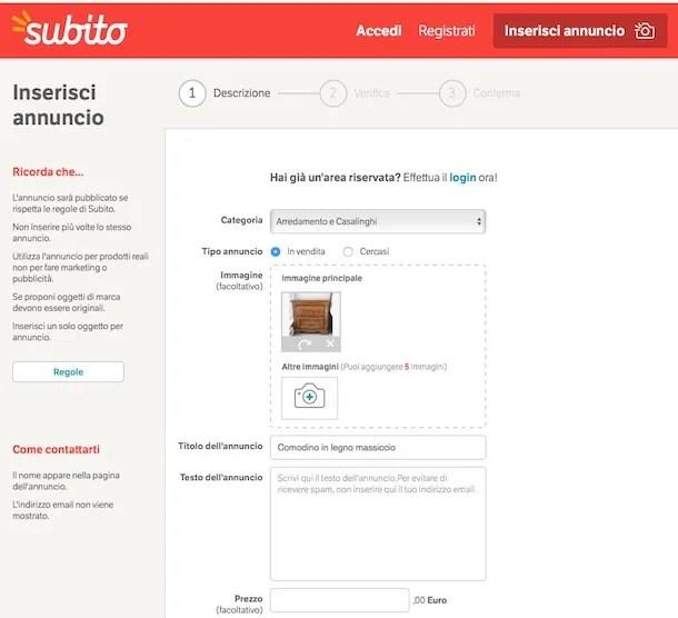 Come Vendere Mobili Online Salvatore Aranzulla