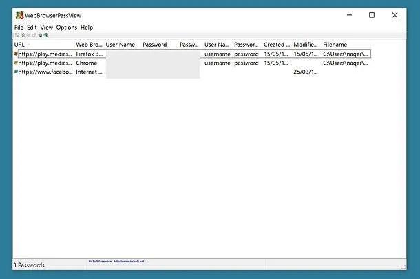 Ermitteln Sie die in Internet Explorer, Firefox und Chrome gespeicherten Passwörter