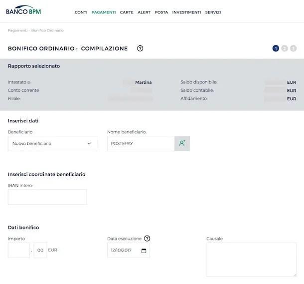 Come Ricaricare Postepay Online Da Conto Bancario