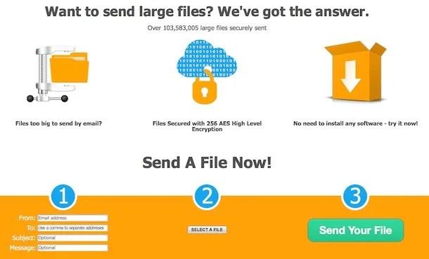 Come inviare file di grandi dimensioni