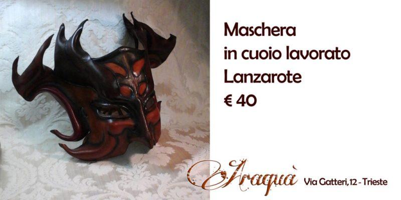 Maschera in cuoio lavorato Lanzarote - € 40