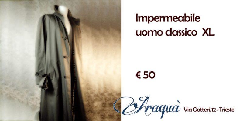 Impermeabile uomo XL classico - € 50