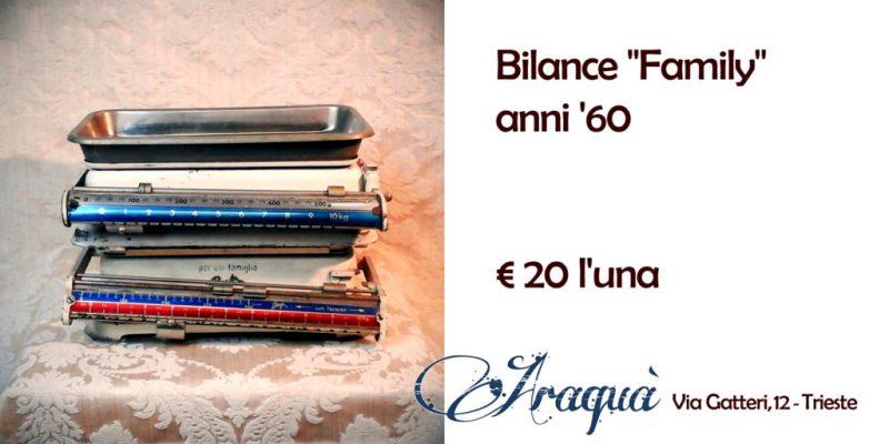 """Bilance anni '60 """"Family"""" € 20 l'una"""