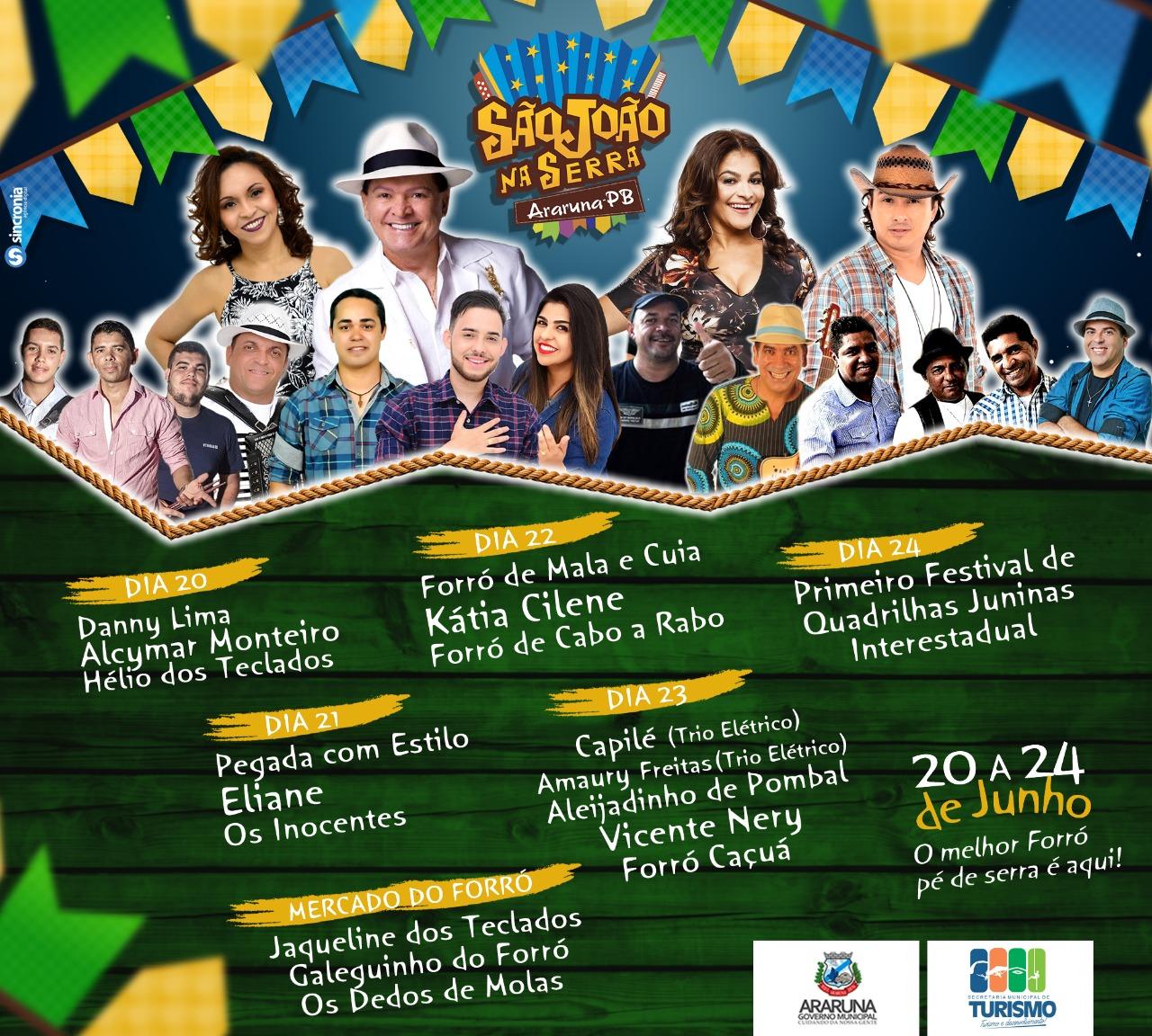 cartaz sao joao araruna  Governo do Estado mantém tradição e promove lançamento de festejos juninos na Paraíba cartaz 20sao 20joao 20araruna