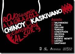 "Chinoy & Kaskivano gira nacional a ""Rojos de Sangre"""