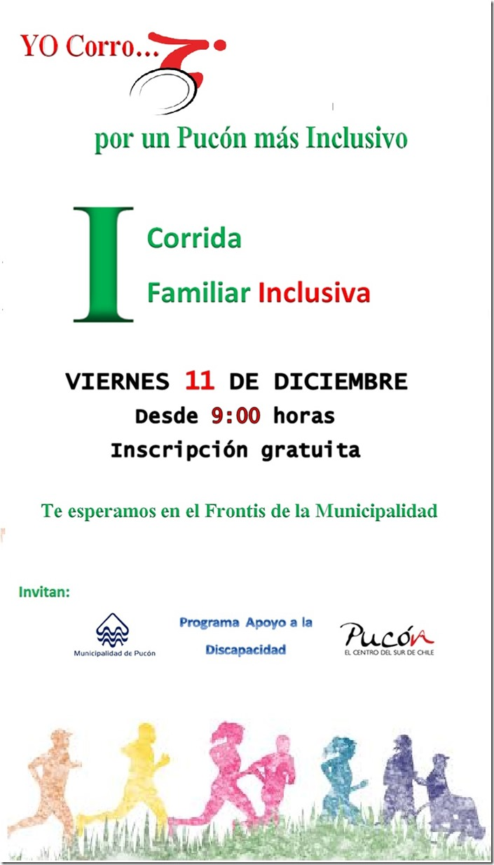 AFICHE corrida familiar inclusiva