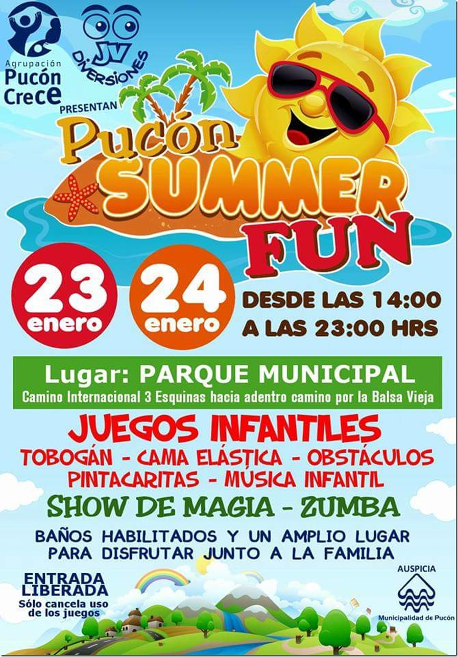 AFICHE pucón summer fun