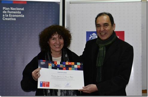 Gestora Viviana Ferrer y director Pedro Mariman