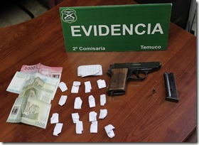 arma y droga Temuco