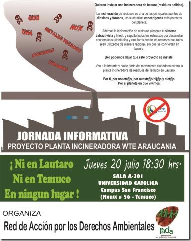 Jornada No a la incineradora 20  julio