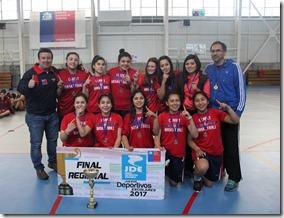 Instituto Claret Campeonas regionales Basquetbol Damas sub 14
