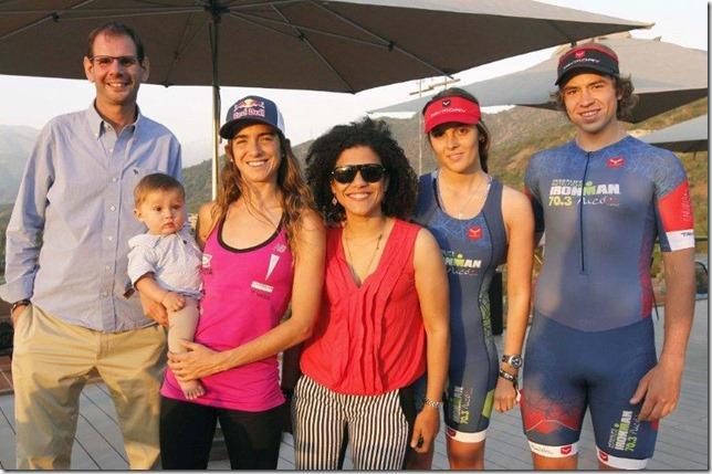 Norberto Petit, Luca Zirpel, Valentina Carvallo, María Victoria Maldonado, Geraldine Neumann y Victor Medina