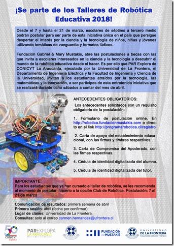 Convocatoria robotica 2018