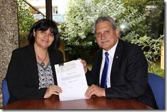 Seremi Mariela Silva y alcalde Gastón Mella