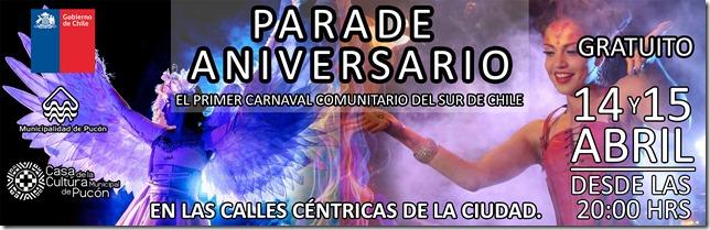 AFICHE parade aniversario