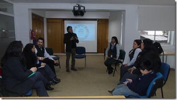 Director del IPS dando la bienvenida al curso