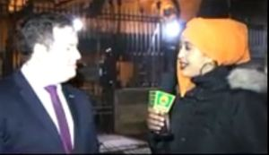 Steven Doughty Mp Labour Party for UK and Busharo Bande Somaliland National TV Reporter