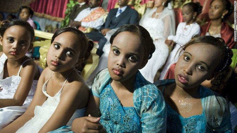 Young girls at a wedding in the Crown Hotel in Hargeisa. photo By James Jeffrey, for CNN