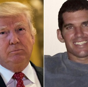 "Donald Trump (left) and William ""Ryan"" Owens Getty Images; Navy"