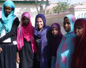 Kate Griendling, center, with students at the Abaarso school in Somaliland. Photos courtesy Kate Greindling