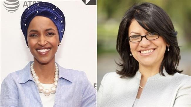 Ilhan Omar (L) and Rashida Tlaib