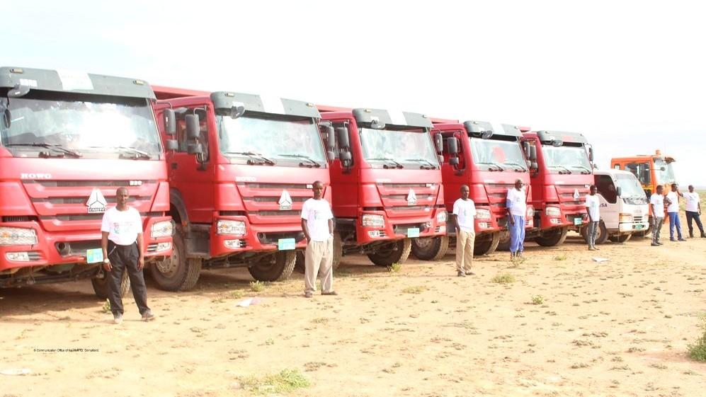 Qayb ka mid ah gaadiidka wadada Ceergaabo © Communication Office of the MoRTD, Somaliland.