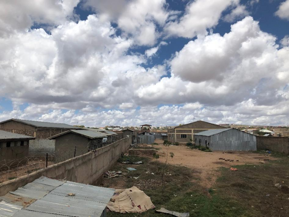 View of Jail Ogaden from one of the guard towers looking east, May 2019. © 2019 Felix Horne/Human Rights Watch