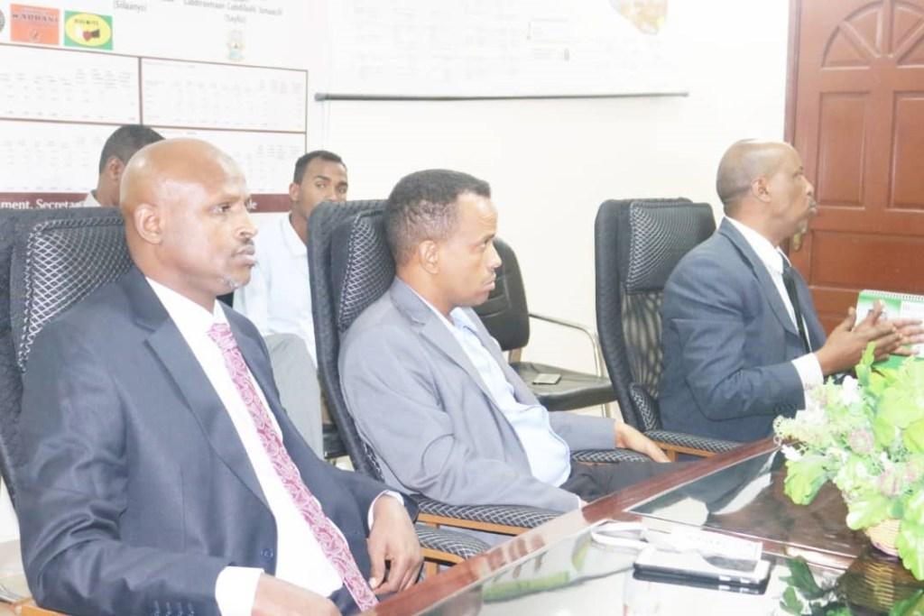 Kulanka Guddoomiyaha Wakiiladda Somaliland iyo Ururada aan Dawliga ahayn hargeysa 24 Oct, 2019.